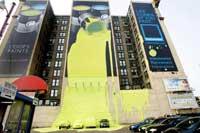 تبلیغات جالب و اثرگذار روی آسمان خراش ها و ساختمانهای بزرگ