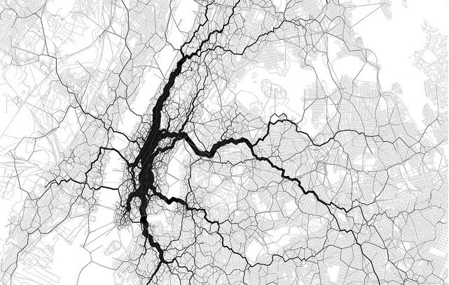 ترسیم نقشه جریان زندگی و کار در شهر نیویورک با استفاده از 10000 تویت