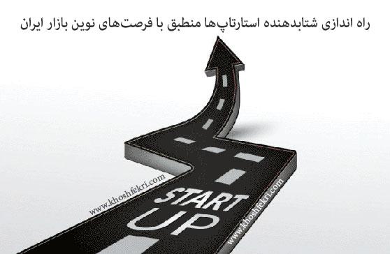 راه اندازی شتابدهنده استارتاپ منطبق با فرصتهای نوین بازار ایران